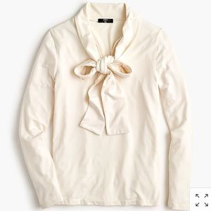 J.Crew Tie-Neck Top un Cream